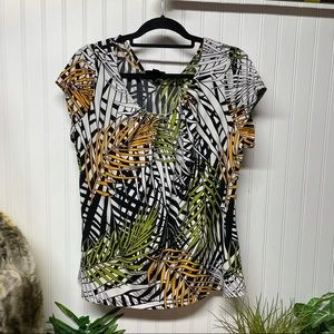 Worthington Tropical Print Blouse 1X